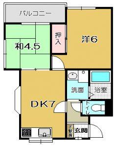 【 西伊敷 7丁目】 クリーンハイツ 201号
