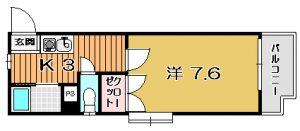 【 下荒田3丁目 】 コーポラス恵夢 304号