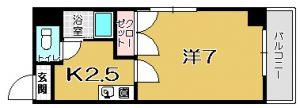 【 下荒田3丁目 】 コーポラス恵夢 201号