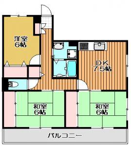 【 東谷山1丁目 】 フルール園田 201号